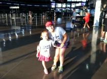 Running the Fun Run with my niece