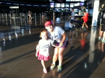 Running the Fun Run with my niece